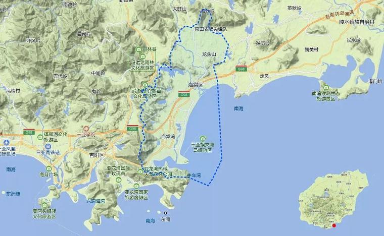 海棠长滩别院地理位置