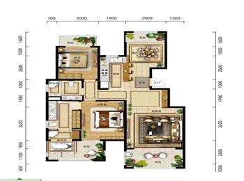 A2-1户型 两室两厅两卫