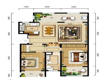 A2-2户型 两室两厅一卫