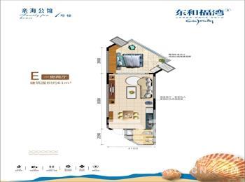 1号楼-1房2厅